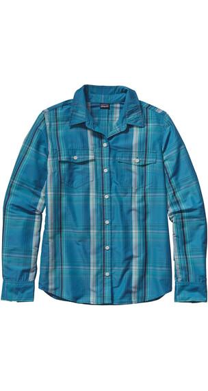 Patagonia W's Overcast L/S Shirt Ventana: Catalyst Blue